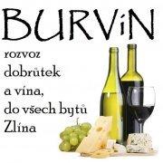 logo BURVÍN - rozvoz dobrůtek a vína